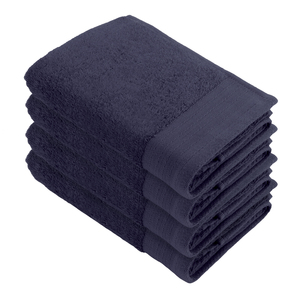Linges de toilette « Soft Cotton » WALRA, lot de 4, bleu marine