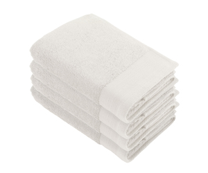 Linges de toilette « Soft Cotton » WALRA, lot de 4, ecru