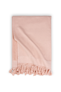Linges hammam «Soft Cotton» WALRA, lot de 2, rose