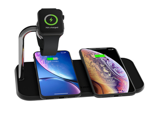Chargeur sans fil « Dual + Watch Aluminium Wireless Charger » ZENS